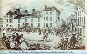 Attack on the Westgate Hotel, later demolished.